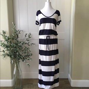 Caslon Drawstring Jersey Maxi Dress